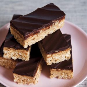 PEANUT BUTTER TRUFFLE CRISPY RICE BARS RECIPE