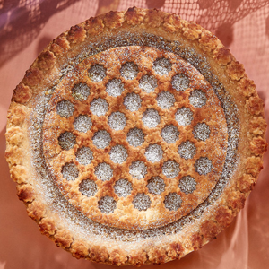 German Chocolate Pie with Toasted Coconut