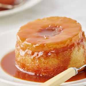 Mini Pineapple Upside-Down Cakes with Rum Caramel Sauce recipe