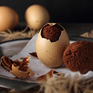 Brownies Baked in Eggshells recipe