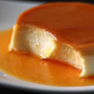 Japanese custard pudding purin