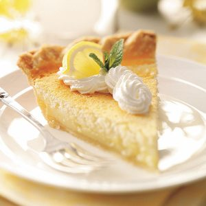 MOM'S LEMON CUSTARD PIE RECIPE