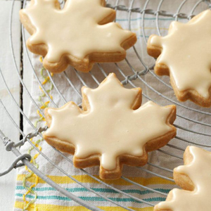 Glazed Maple Shortbread Cookies recipe