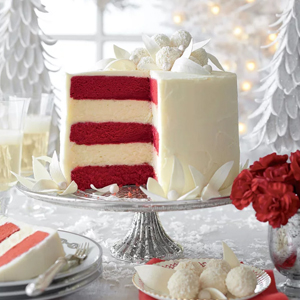 Red Velvet-White Chocolate Cheesecake recipe